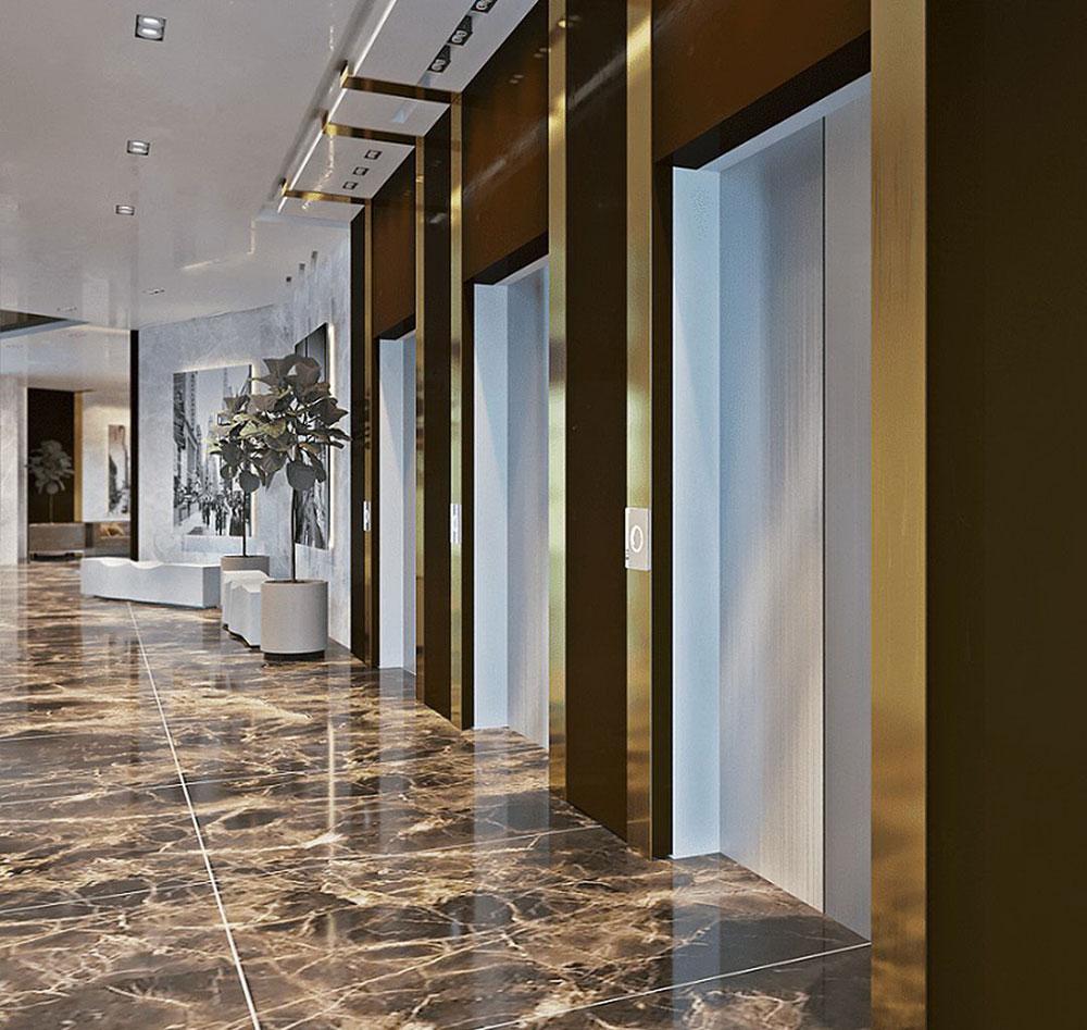 В домах установлено 5 скоростных лифтов компании «KONE»