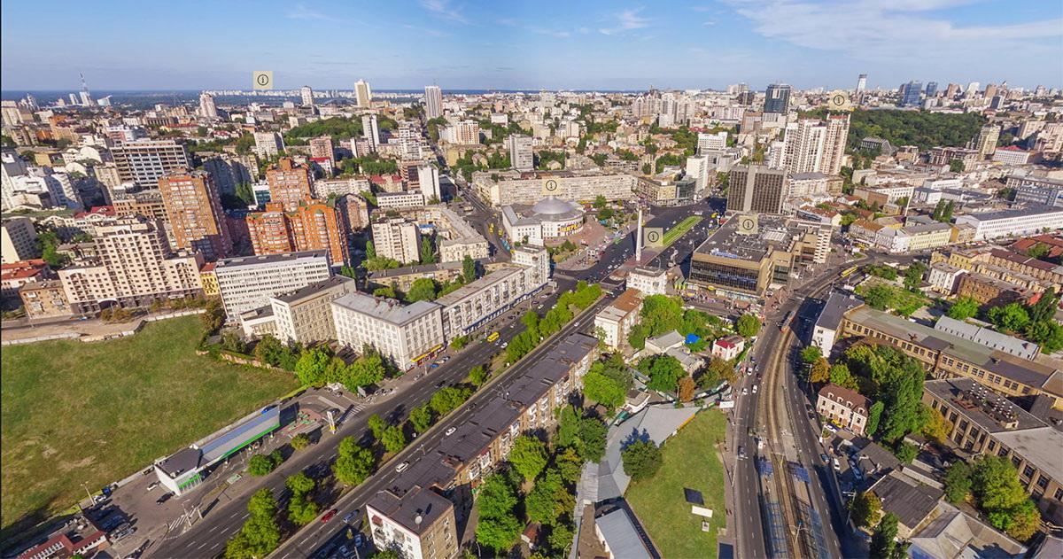 ЖК Виктори 5 - вид из окна на Киев днем