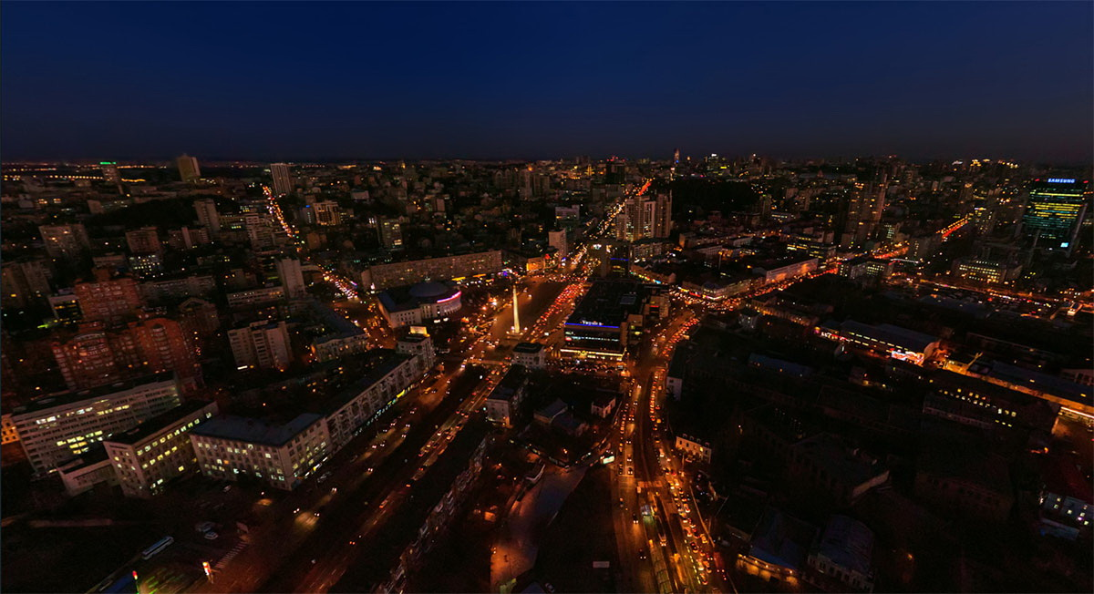 ЖК Виктори 5 - вид из окна на Киев ночью