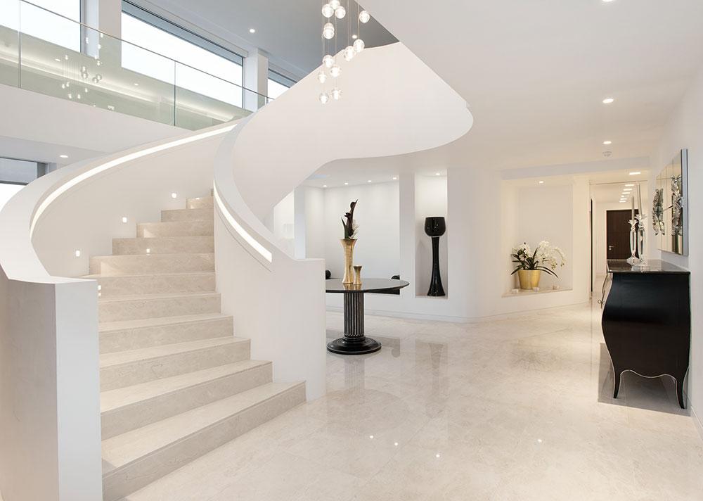 3. Полуоборот лестницы из камня - приятные минимализм