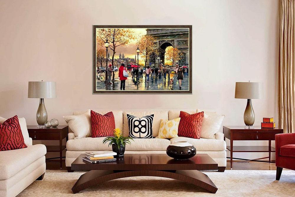 Картины в интерьере гостиной: идеи роскошного дизайна