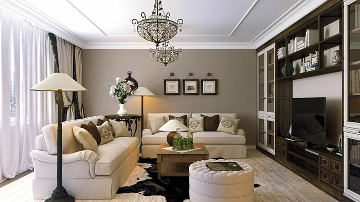 Какими должны быть картины в интерьере гостиной?